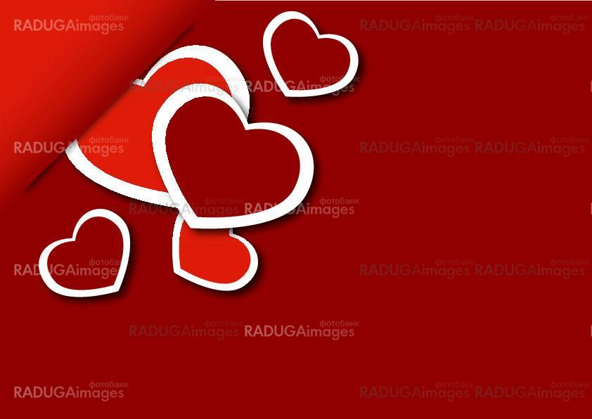 congratulatory background with hearts
