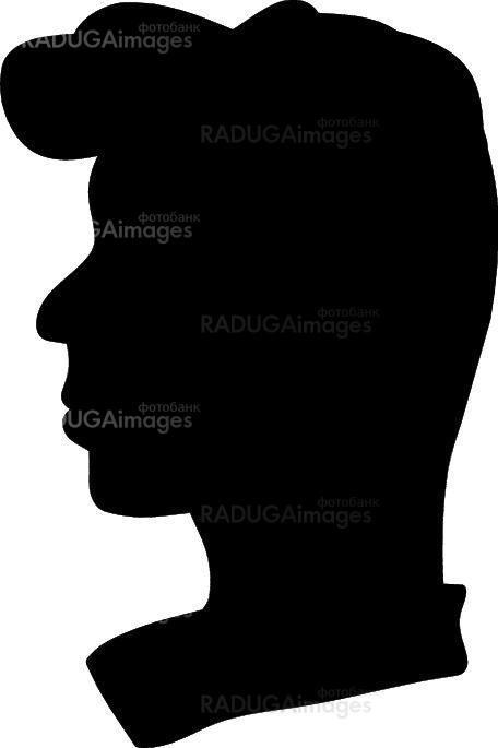 silhouette of a man profile