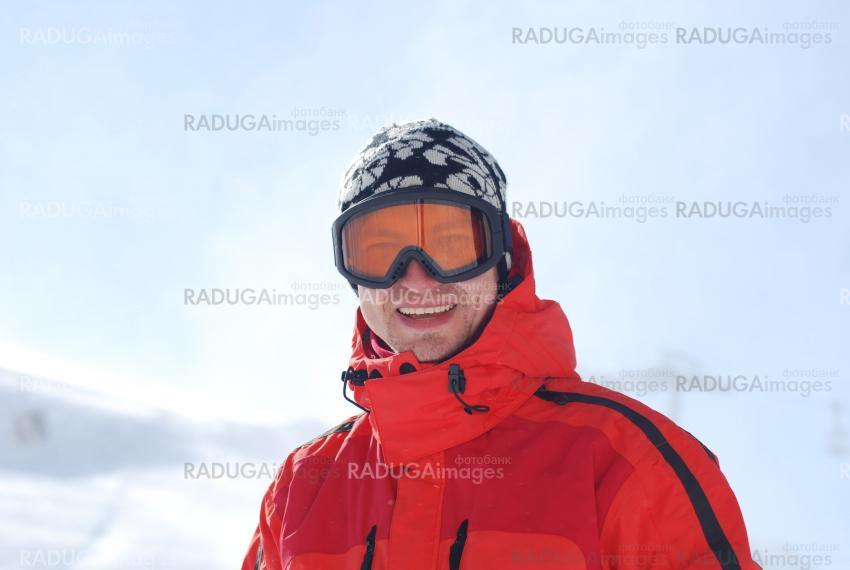 snowboarder  in goggles