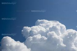 Thick clouds ascend higher and higher