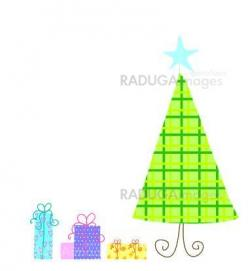 illustration of Christmass tree  and gifts