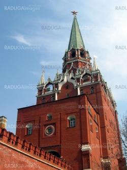 Moscow Kremlin with red wall