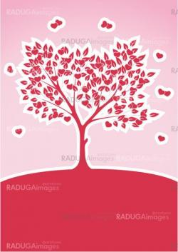 Tree of Love Abstract Background