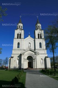 Cathedral in Vilkaviskis. Lithuania