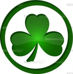 icon shamrock in the circle
