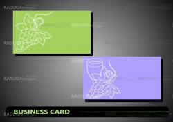 business card with a bunch of grapes