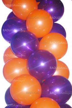 orange and violet balloons