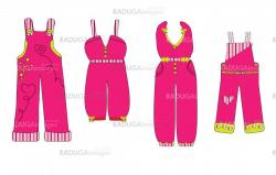overall. clothes for baby vector