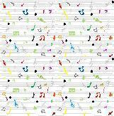 seamless pattern wallpaper of musical notes