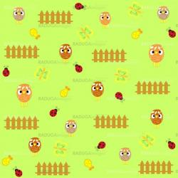 Cute  chicken seamless background