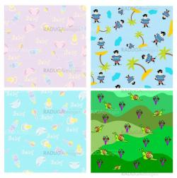 Cute kids cover template  pattern
