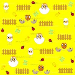 Seamless  flowers and birds background pattern