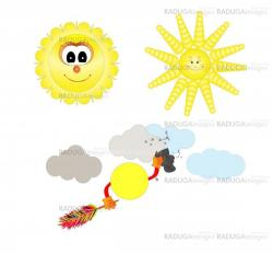 happy sun cartoon isolated over white background