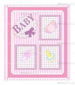 Baby arrival cards.  girl