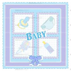 Baby arrival cards. Boy