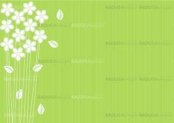 abstract green background with flowers