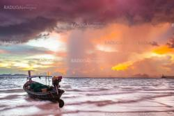Fishing boat before the storm