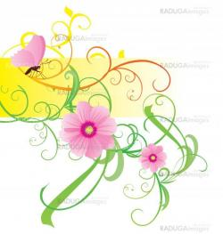 spring and summer vector flower bunners