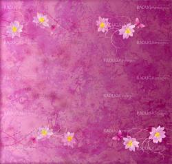 magenta and purple grange paper background with flowers border