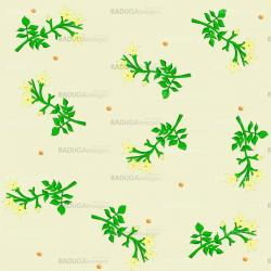 Vector seamless floral background with flowers