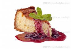 cheese cake with jam