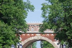 Bridge at the summer. Palace of queen Ekaterina in  Moscow. Zarizino (Tsaritsino, tsaritsyno, tsaritsino).