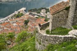 Top view of the Bay of Kotor