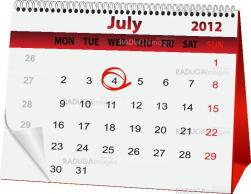 holiday calendar for 4 July