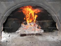 Flame in the furnace with pig-iron