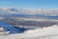 ski resort and  snow mountains in Turkey Palandoken Erzurum