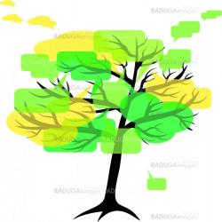 forum or chat: in  tree of speech bubbles concept