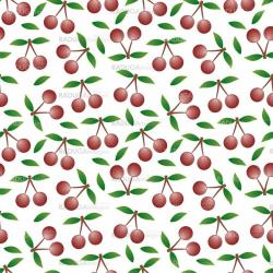 cherry - seamless pattern and abstract nature background