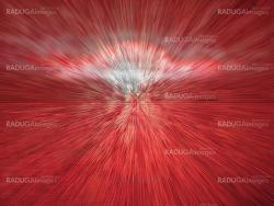 Red abstract explosion