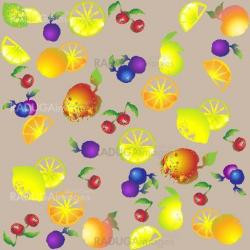 Seamless background from a fruits ornament, fashionable modern wallpaper or textile.