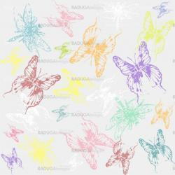 Seamless background with  dragonflies and butterflies.
