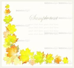 Greeting card with maple l
