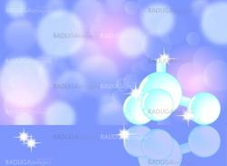 Molecule,  molecular structure, science abstract background, eps10