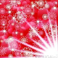 Red christmas background with white snowflakes and fireworks, EPS10