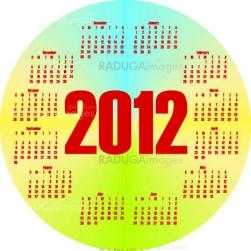 round colorful calendar 2012  in vector
