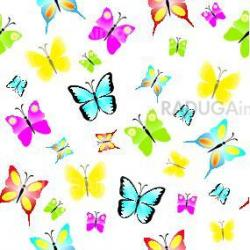 Seamless pattern with colorful butterflies, butterfly background