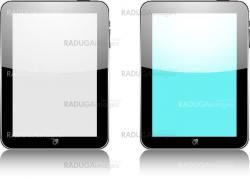 Vector concept tablet  . No transparency effects. EPS8 Only.