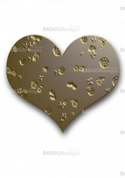 gold   silver embossed heart