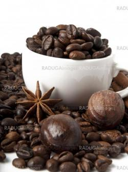 coffee grains and spices