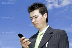 Businessman talking with mobile