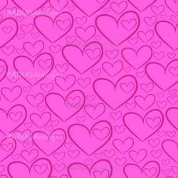 Seamless pattern with silhouettes of hearts