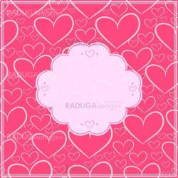 Valentines day card and seamless pattern