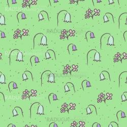 Seamless floral pattern with flowers bells.