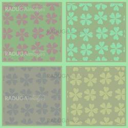 Set of seamless abstract floral patterns