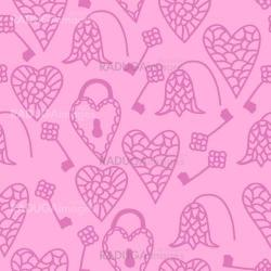 Cute seamless pattern with hearts