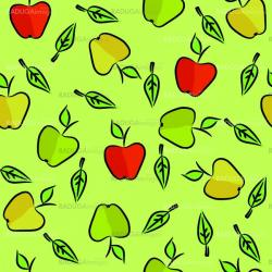 Seamless with apples and leaves